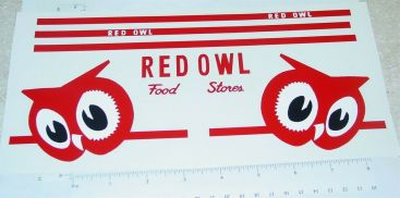 Tonka Red Owl Stores Semi Truck Sticker Set Main Image