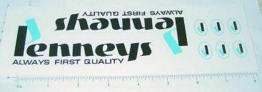 Mini Tonka JC Penneys Semi Truck Stickers Main Image