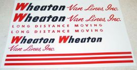 Tonka Wheaton Van Lines Semi Truck Sticker Set