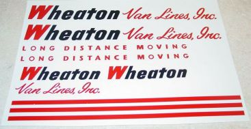 Tonka Wheaton Van Lines Semi Truck Sticker Set Main Image