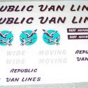 Tonka Republic Van Lines Semi Truck Sticker Set Main Image