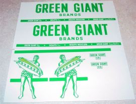 Tonka Green Giant Semi Truck Sticker Set