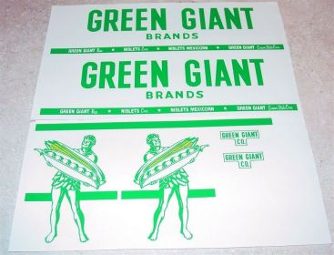 Tonka Green Giant Semi Truck Sticker Set Main Image