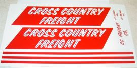 Tonka Cross Country Freight Semi Sticker Set