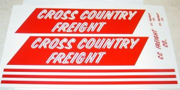 Tonka Cross Country Freight Semi Sticker Set Main Image