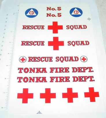 Tonka Metro Van Style Rescue Squad Sticker Set Main Image