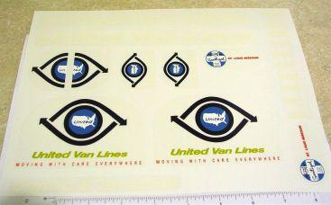 Tonka United Van Lines Semi Truck Sticker Set Main Image