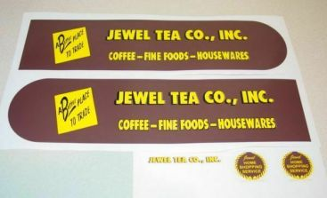 Tonka Jewel Tea Stores Semi Truck Sticker Set Main Image