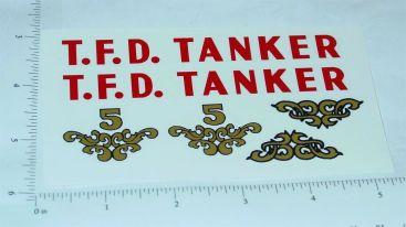 Tonka 1958 TFD Tanker Truck Stickers Main Image