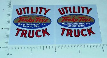Tonka Cabover Utility Truck Red Sticker Set Main Image