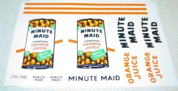 Tonka Minute Maid Orange Juice Semi Stickers Main Image