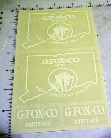 Tonka G. Fox & Co. Metro Van Sticker Set Main Image