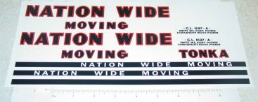 Tonka Nationwide Moving Semi Truck Sticker Set Main Image