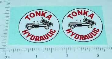 Tonka Hydraulic Dump Truck Sticker Set Main Image