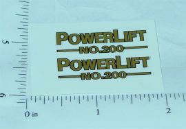 Tonka #200 Powerlift Replacement Stickers