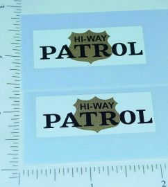 Mini Tonka Jeep Hiway Patrol Door Stickers