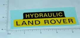 Tonka Hydraulic Land Rover Replacement Sticker