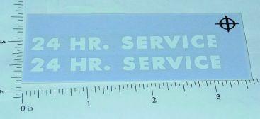 Tonka White 24 Hour Service Stickers Main Image