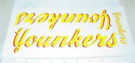 Tonka Younkers Semi Truck Sticker Set