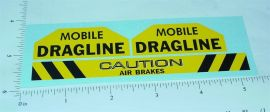 Tonka Mobile Dragline Replacement Sticker Set