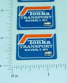 Tiny Tonka Transport Original NOS Stickers