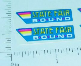 Tiny Tonka State Fair Original NOS Sticker Set