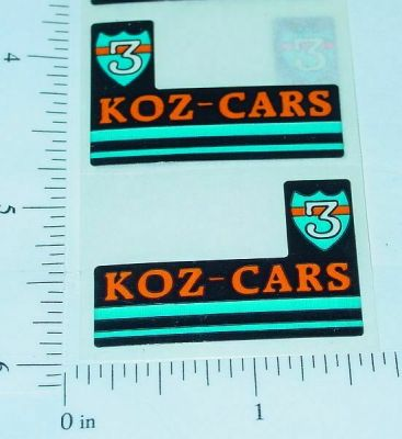 Tiny Tonka Koz Cars Original NOS Sticker Set Main Image