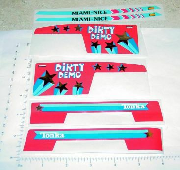 Tonka Dirty Demo Truck Original NOS Sticker Set Main Image