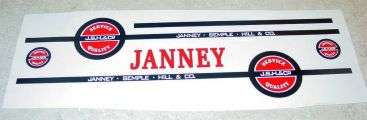 Tonka Janney Semple Hill Semi Truck Sticker Set Main Image