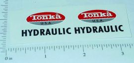 Tonka Turbine Hydraulic Dump Truck Sticker Set