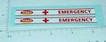 Tiny Tonka Emergency Van Replacement Stickers Main Image