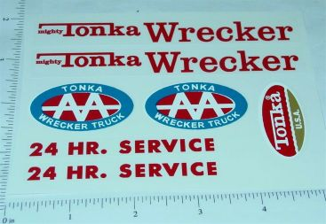 Mighty Tonka Wrecker Replacement Sticker Set Main Image