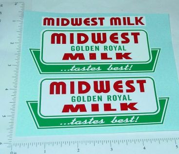 Tonka Midwest Milk Metro Van Sticker Set Main Image