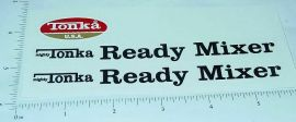 Mighty Tonka Ready Mixer Truck Stickers