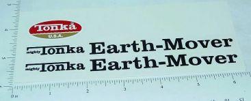Mighty Tonka Earth Mover Sticker Set Main Image