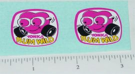 Tonka Plum Wild Toy Car Replacement Stickers