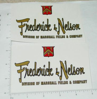 Tonka Frederick & Nelson Metro Van Replacement Stickers Main Image