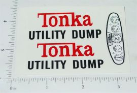 Tonka Utility Dump Vehicle Replacement Stickers