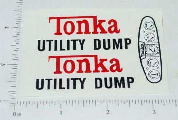 Tonka Utility Dump Vehicle Replacement Sticker Set Main Image
