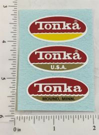Mightly Tonka Oval Logo Assortment Replacement Stickers