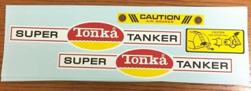 Tonka Super Tanker Trailer Replacement Stickers Main Image