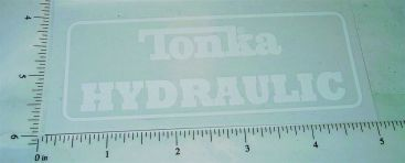 Mighty Tonka Hydraulic Dump Truck Replacement Stickers Main Image
