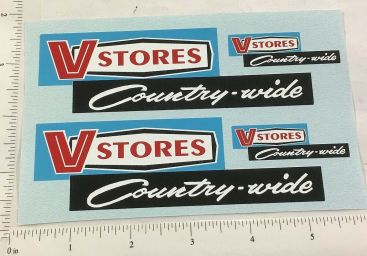 Mini Tonka V-Stores Private Label Semi Truck Replacement Sticker Set Main Image