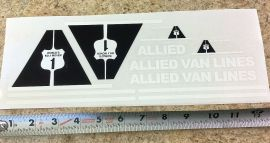 Mini Tonka Allied Van Lines Private Label Semi Truck Sticker Set
