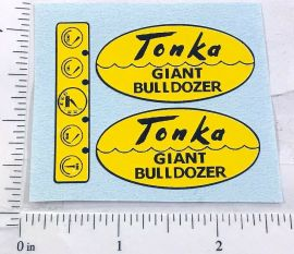 Tonka Giant Bulldozer Script Style Replacement Sticker Set