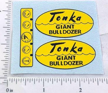 Tonka Giant Bulldozer Script Style Replacement Sticker Set Main Image
