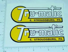 Tru Matic Ride On Toys (Pennsylvania) Stickers