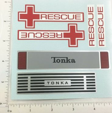 Mighty Tonka Ambulance Replacement Sticker Set Main Image
