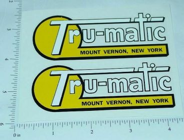 Tru Matic Ride On Toys (New York) Stickers Main Image