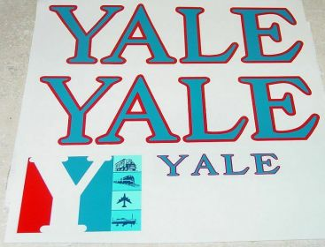 Tru Scale YALE Pressed Steel Semi Sticker Set Main Image